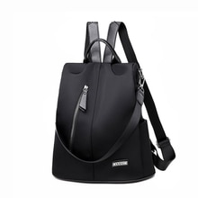 Women Anti-theft Backpack Waterproof Fabric Large Female Shoulder Bag Large Capacity Simple Style Ca