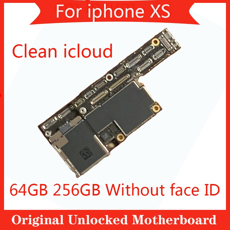 Promo Factory Unlocked For iPhone XS Motherboard 64GB 256GB 100% Original For iPhone XS Mainboard Logic board without Face ID