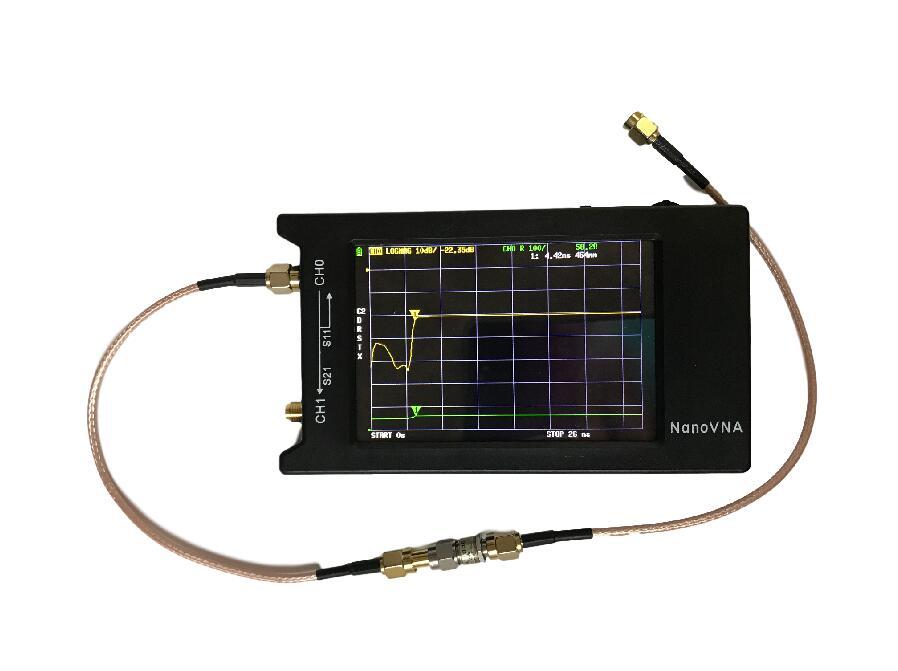 أحدث الأصلي Hugen NanoVNA-H4 H 4 بوصة LCD/VNA ناقلات شبكة محلل HF VHF UHF هوائي محلل + صندوق + بطارية