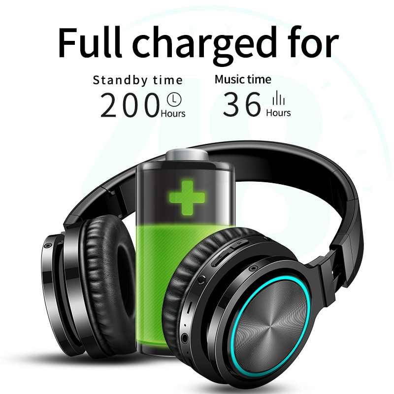 Hembeer Wireless Headphones Gaming Headset 3D Surround Sound Bluetooth Earphones with 40mm Large Unit Shocking Bass enlarge