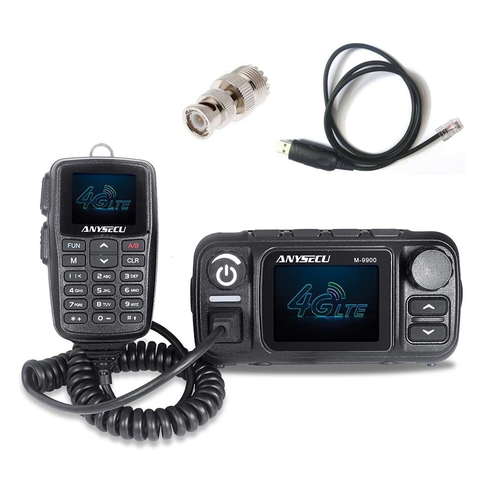 ANYSECU 4G LTE الفرقة و UHF VHF ثنائي الموجات 25W M-9900 عبر الفرقة راديو المحمول M-9900 سيم بطاقة راديو المحمول مع USB كابل