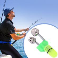 LED Light Night Fishing Lamp Fishing Bite Alarms Fishing Rod Bell Rod Clamp Tip Clip Bells Green waterproofOutdoor Ideal  Fishin