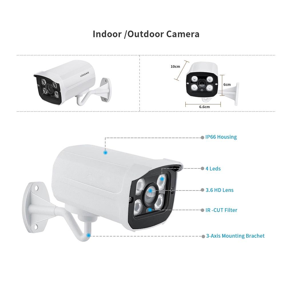 Loosafe 5mp Sony Sensor 8 Channels Cctv Security Camera Set System With Poe Nvr