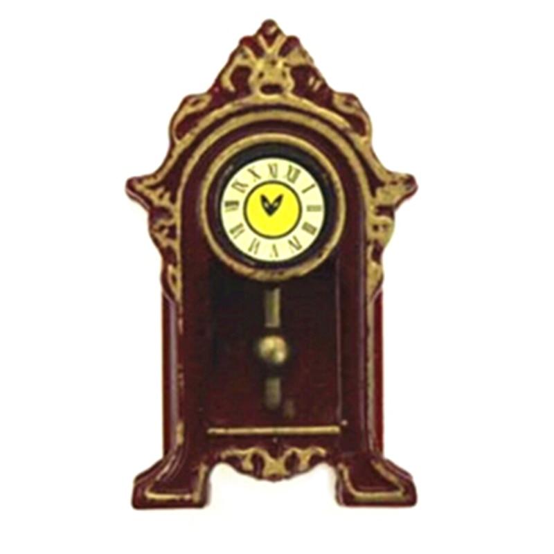 1/12 Мини Деревянные маятниковые часы кукольный домик Миниатюрные аксессуары имитация мебели модель игрушки для украшения кукольного дома