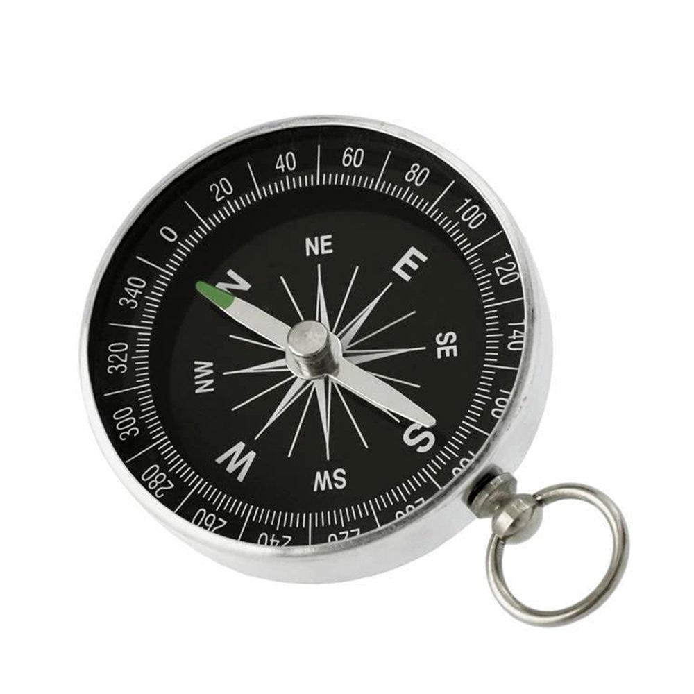 Portable en aluminium léger boussole de secours Mini porte-clés en plein air survie boussole outil Navigation outil sauvage