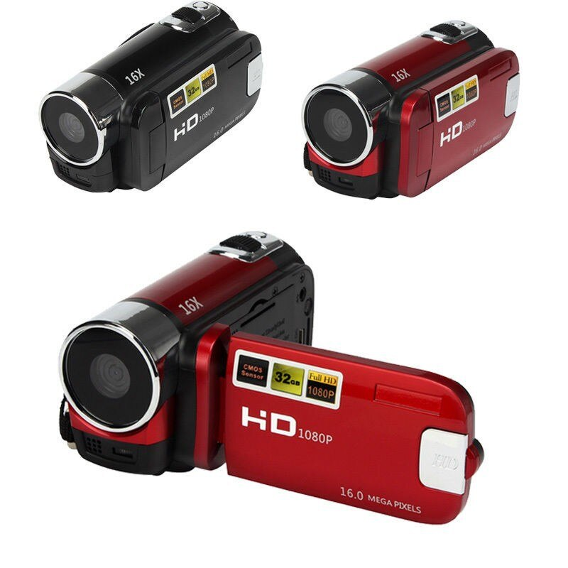 Cámara Digital 1080P, grabación de Video, visión nocturna clara, luz LED antivibración, cámara de Selfie profesional, alta definición
