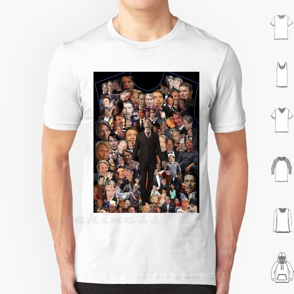 Dork Mads t-shirt Ringer coton hommes femmes adolescentes Mads Mikkelsen Mads Mikkelsen Dork Hannibal Bryan Fuller Fannibal Fannibals
