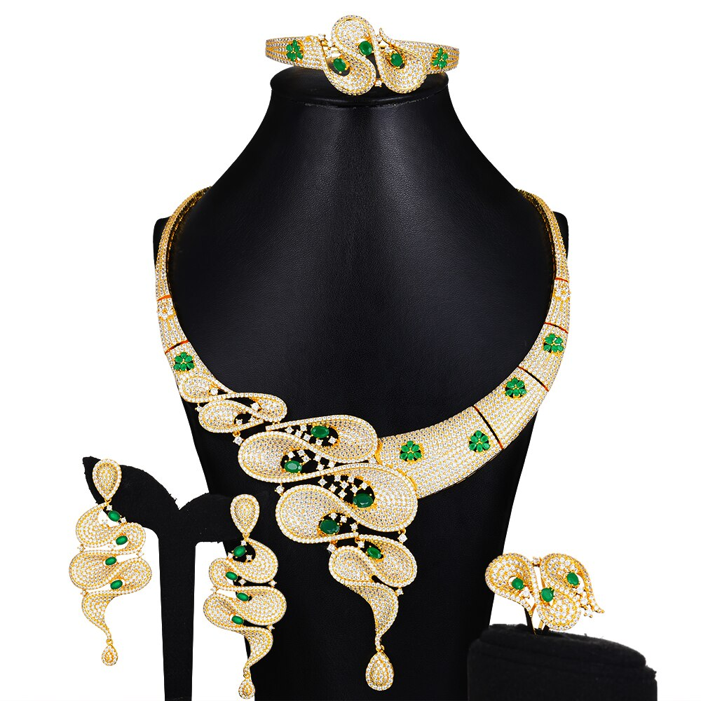 GODKI الفاخرة الهندسة دبي الذهب والمجوهرات مجموعات النيجيري الزفاف الخرز الأفريقي مجوهرات الزفاف مجموعة مكعب الزركون الاثيوبية مجوهرات