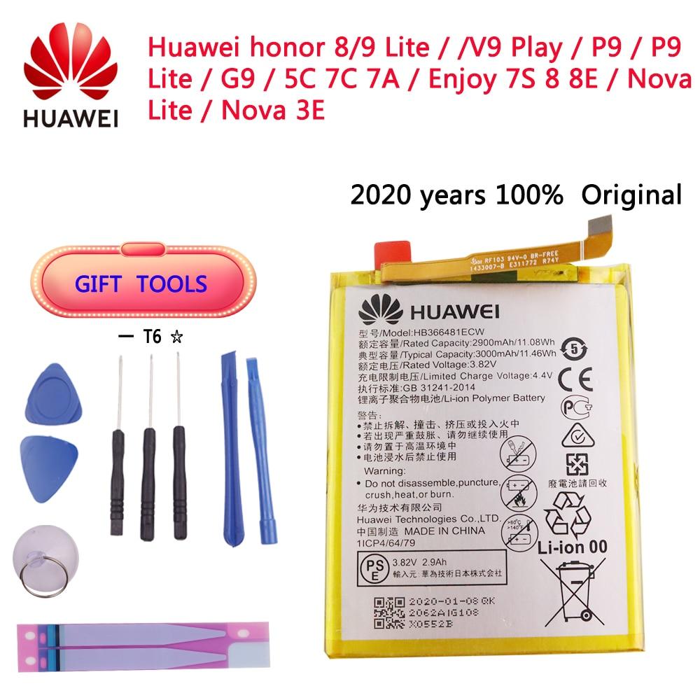 2020 years Original HB366481ECW Real 3000mAh Battery For Huawei P9 Ascend P9 P10 Lite P20 Lite G9 honor 8 5C Battery+Tool Kits 2018 new 100% original hb366481ecw real 3000mah battery for huawei p9 ascend p9 lite g9 honor 8 5c battery