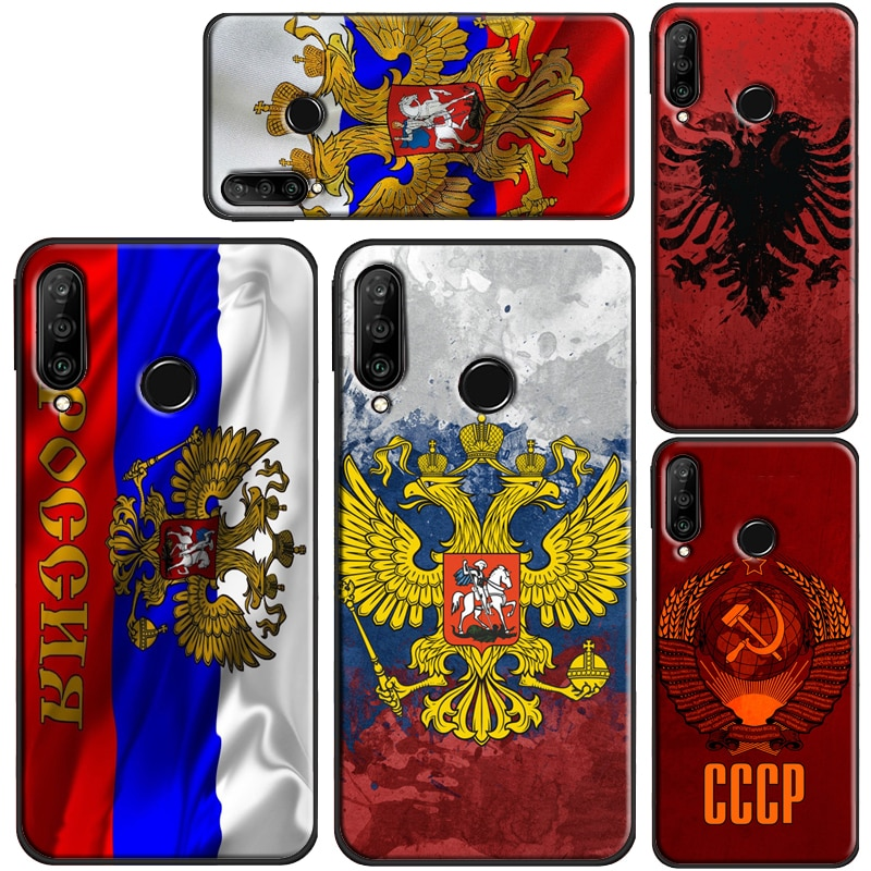 Ruso abrigo de armas bandera funda para Huawei Honor 8X 9X 10i 9 10 20 Lite 7A Pro 7C 8A 8C 8S Nova 5T Y6 Y7 Y9 2019