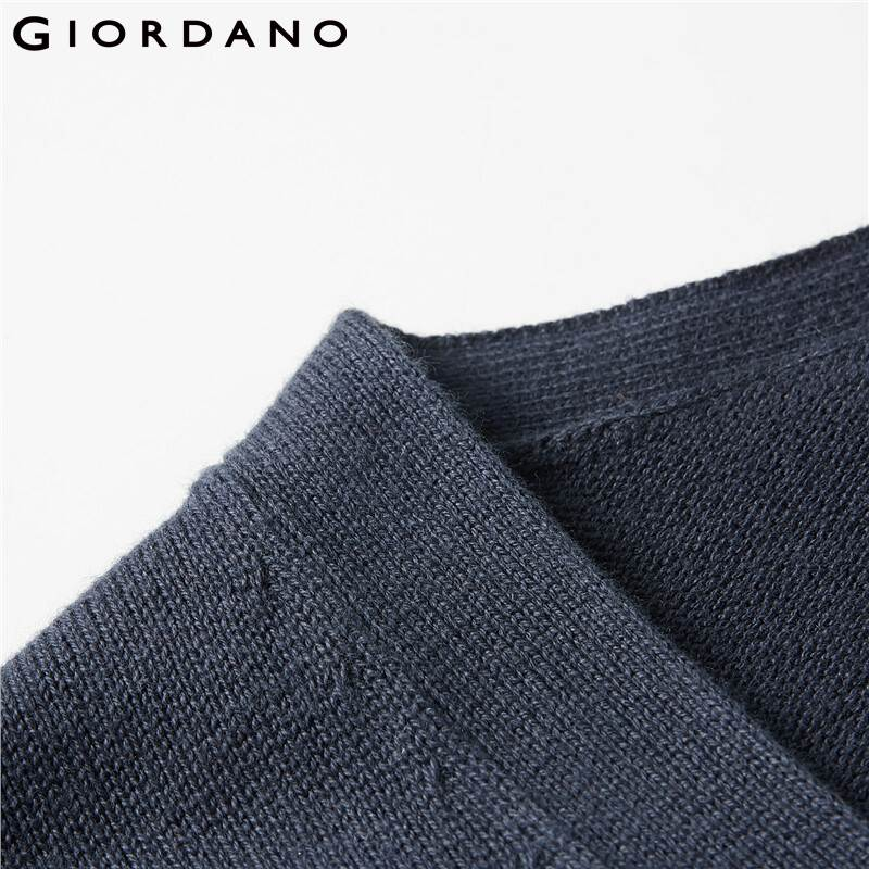 Giordano Women Sweaters Cotton V-neck Kintted Cardigan Soild Open Stitch Button Closure 12 Needle Knitting Pull Femme 05350649 enlarge