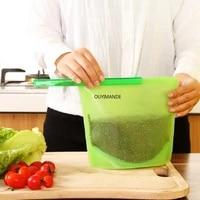 4pcs kitchen food sealing storage bag silicone food preservation bag refrigerator preservation sealing bag freezer bag