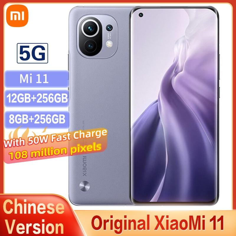 Original Xiaomi Mi 11 5G Smartphone 128GB/256GB Snapdragon 888 Octa Core 6.81