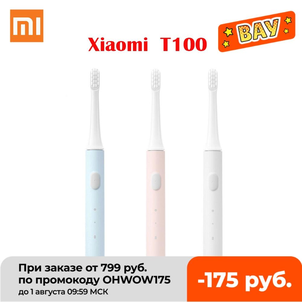 Зубная щетка Xiaomi Mijia T100 звуковая электрическая, автоматическая ультразвуковая Водонепроницаемая перезаряжаемая для зуб|Электрические зубные щетки|   | АлиЭкспресс