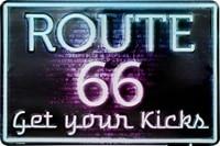 route 66 old trails road bike metal sign postcard vintage retro f u m tools fum retro wall home bar pub vintage cafe decor8x12