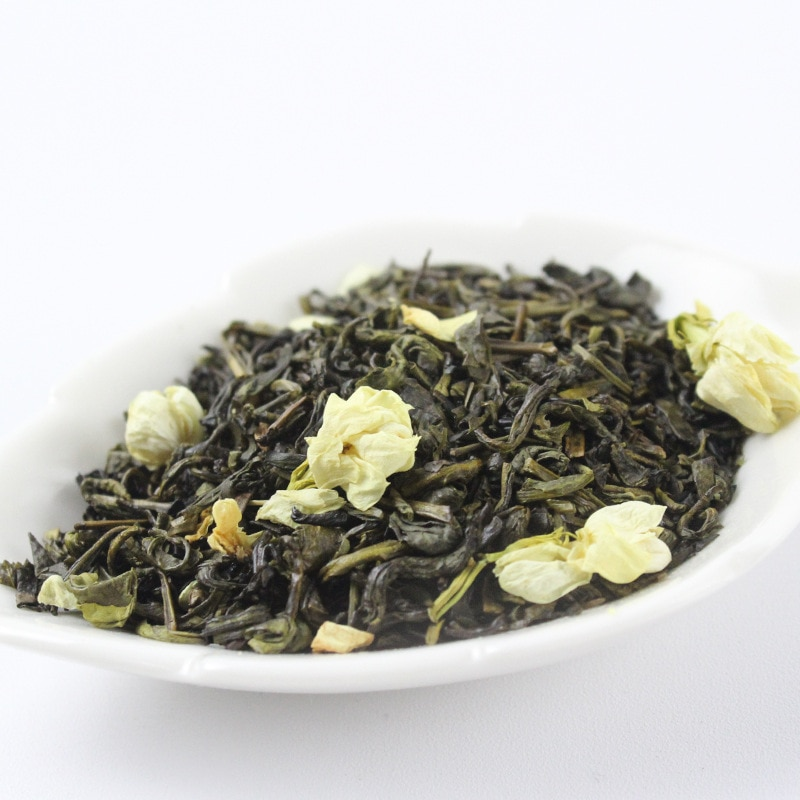 2020 زهرة الياسمين الصينية Maofeng شاي أخضر حقيقي عضوي جديد أوائل الربيع الياسمين الشاي لتخفيف الوزن الغذاء الأخضر الرعاية الصحية