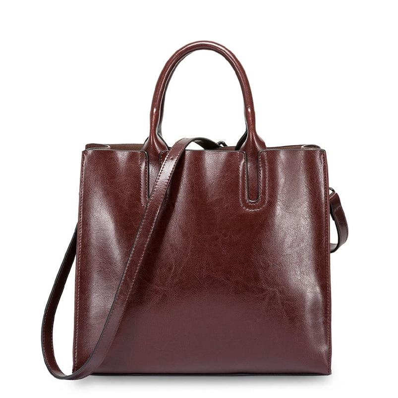 Nuevo bolso de mano Vintage de piel auténtica con cremallera para mujer...
