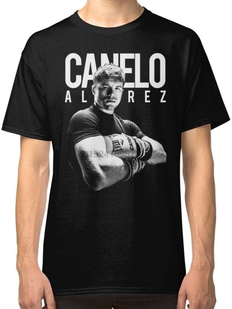 Camiseta negra de Canelo Alves para hombre, ropa