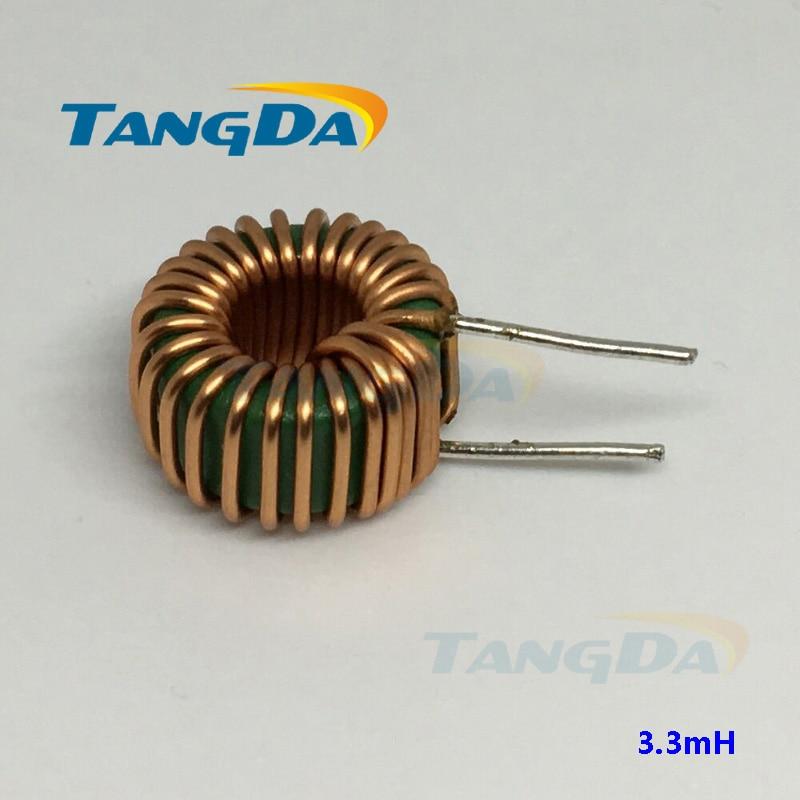 Inductores PROW 13mm 3.3mH 0,8mm cable 6A ola de filtrado del inductor de bobinado de modo diferencial de circuito mn-zn 15*8mm