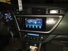 Android 9.0-enregistreur de ruban radio 8-core   Lecteur vidéo entièrement tactile + cadre, Navigation GPS multimédia pour TOYOTA Auris 2013 2014