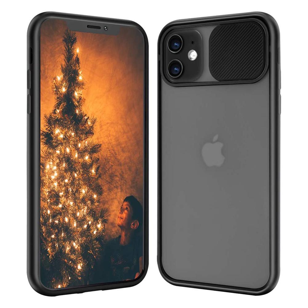 100PCS/LOT Slide Camera Lens Protection Phone Cases For iPhone 12 PRO MAX 7 8 Plus SE 11 Case Luxury fashion TPU PC Matte Cover