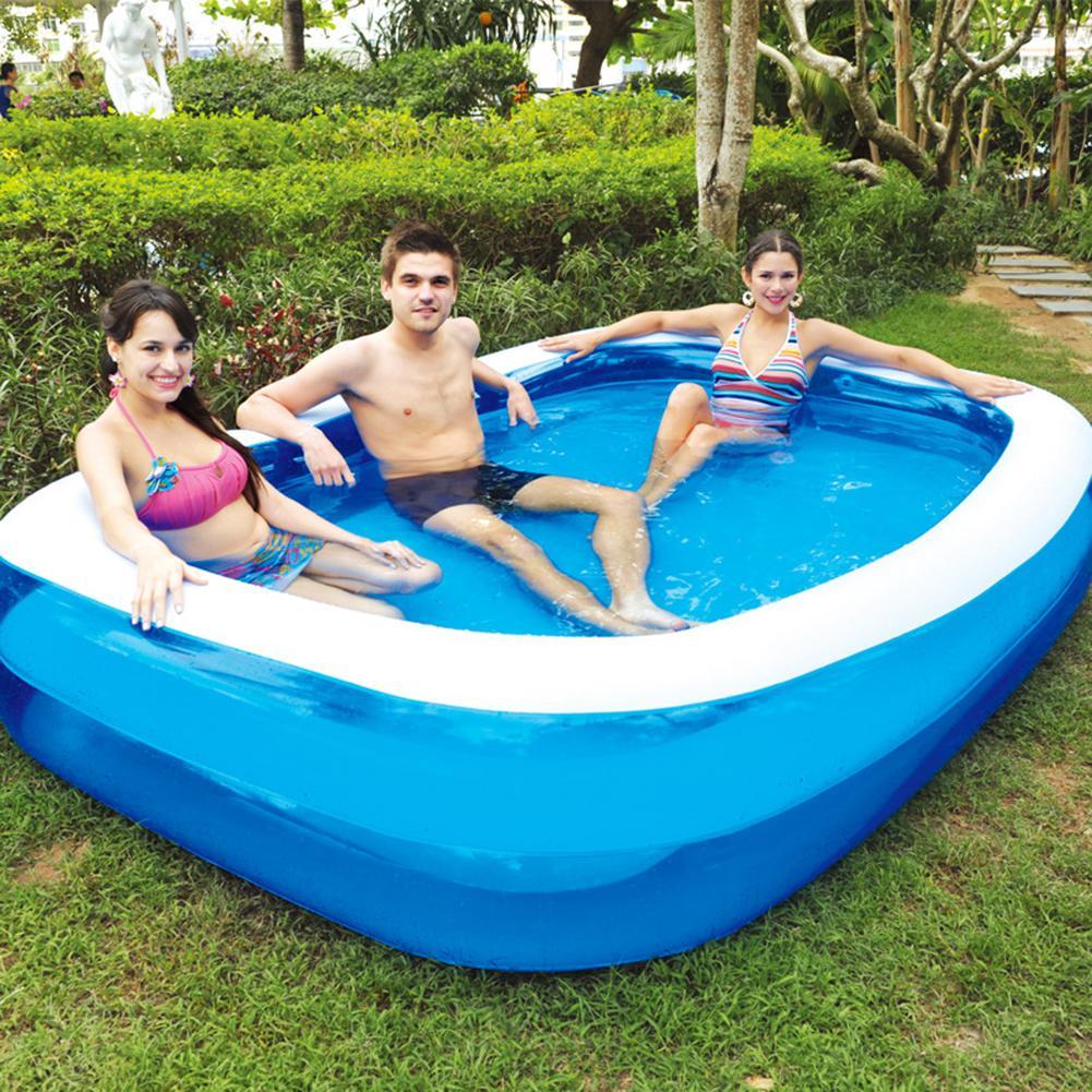 1PC verano engrosada piscina inflable familia niños adultos jugar bañera interior al aire libre, piscina de agua nadar