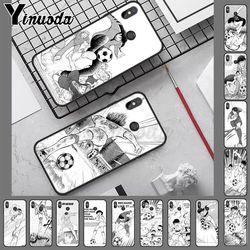 Anime capitão tsubasa ozora genzo futebol macio celular caso para redmi note8 pro note7 note5 note6pro 7 7a 5 5a 8 s2 caso