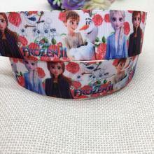 New arrival 1 (25mm)princess printed grosgrain ribbons cartoon characters ribbon hair accessories 5yards HA3234