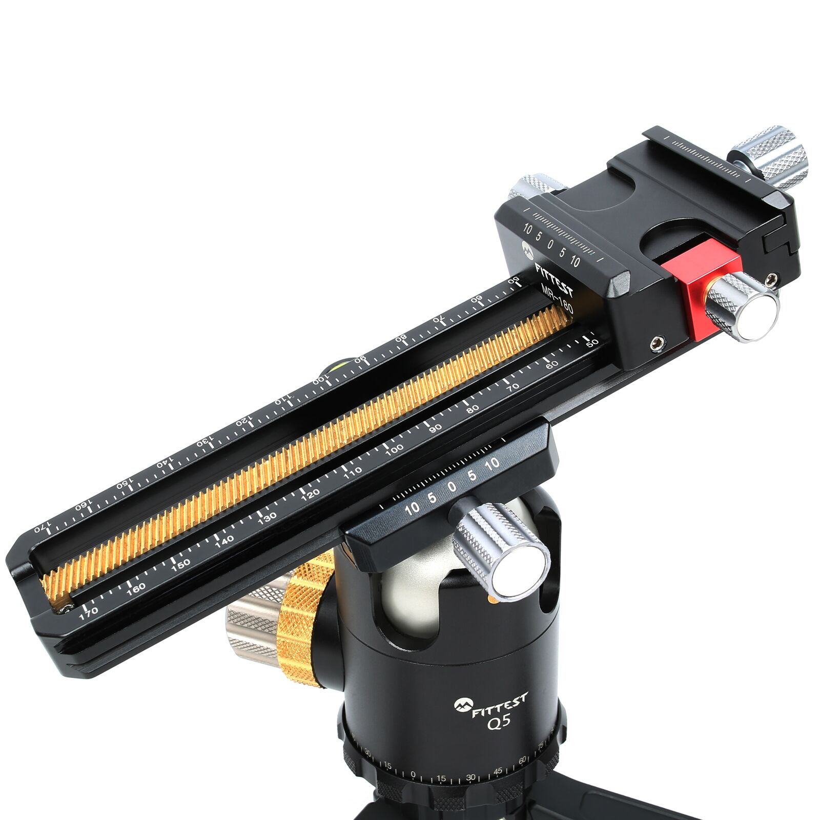 FITTEST MR-180 180mm Macro Focusing Rail Slider Close-up Shooting Head With Arca-Swiss Fit Clamp Quick Release Plate for Tripod enlarge
