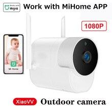 Mihome caméra extérieure Xiaovv caméra de sécurité sans fil Wifi haute définition Vision nocturne travail avec lapplication Mihome pour Kit de maison intelligente