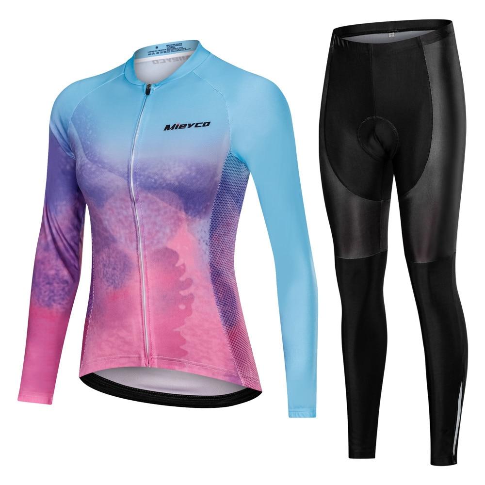 Conjunto De Jersey De Ciclismo para mujer, pantalones y pechera, ropa De...