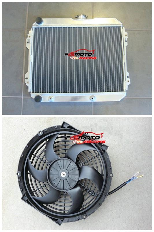 Radiador de aleación de aluminio + Fan para TOYOTA CORONA ST141 1983...