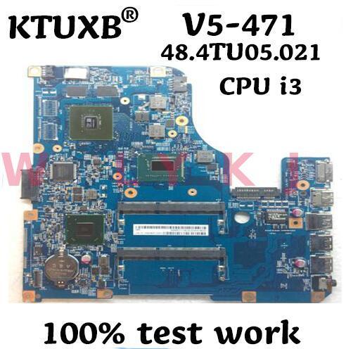 KTUXB 48.4TU05.021 motherboard para Acer V5-571 V5-471 notebook motherboard CPU i3 3217U/3227U HM76 DDR3 100% trabalho de teste