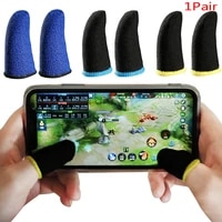 1pair mobile game sweat proof fingers gloves touch screen thumbs finger sleeve for pubg phone gaming acc
