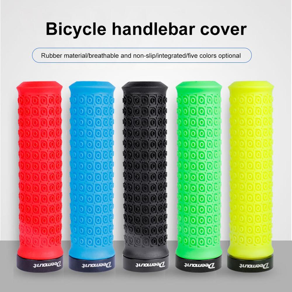 1 par de manillares de bicicleta Eco TPR antideslizantes, cómodos, sensación de mano, multicolores, reposapiés de mano de ciclista MTB
