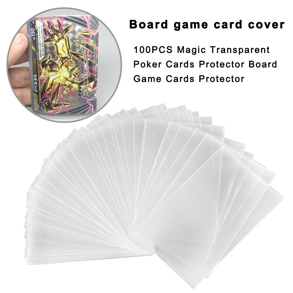 100 Uds transparente juego de magia tarjetas de tarjetas Protector Junta Mtg tarjeta Tcg protectores para cartas de juego de Tarot