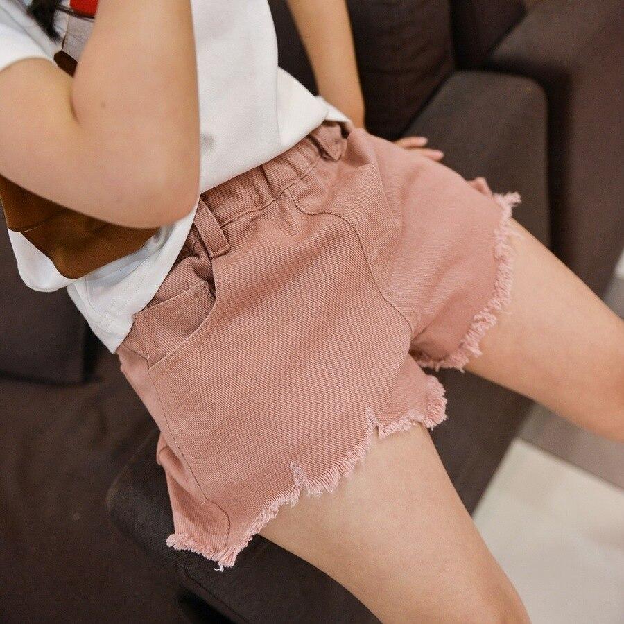 Pantalones cortos de verano para bebés, Ropa para Niñas, pantalones cortos de algodón rasgados para niño niña, pantalones vaqueros cortos casuales para niños, pantalones cortos