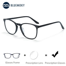 BLUEMOKY acétate lunettes de Prescription pour femmes hommes carré optique myopie lunettes montures Anti lumière bleue Ray lunettes dordinateur