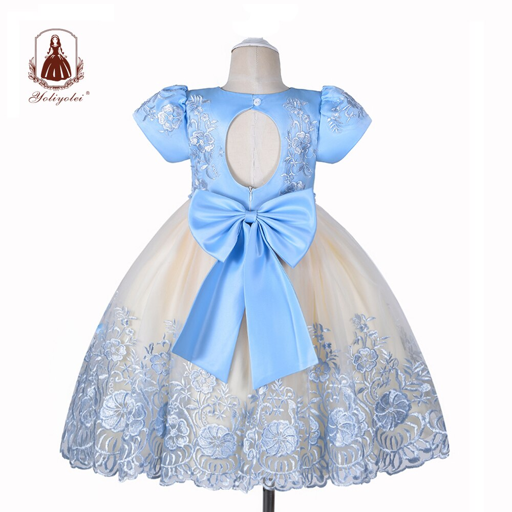 Yoliyolei Fashion Design Girls Dress Children Casual Ball Gown Child Wear Summer Girls Clothes Party Kids Princess Dresses