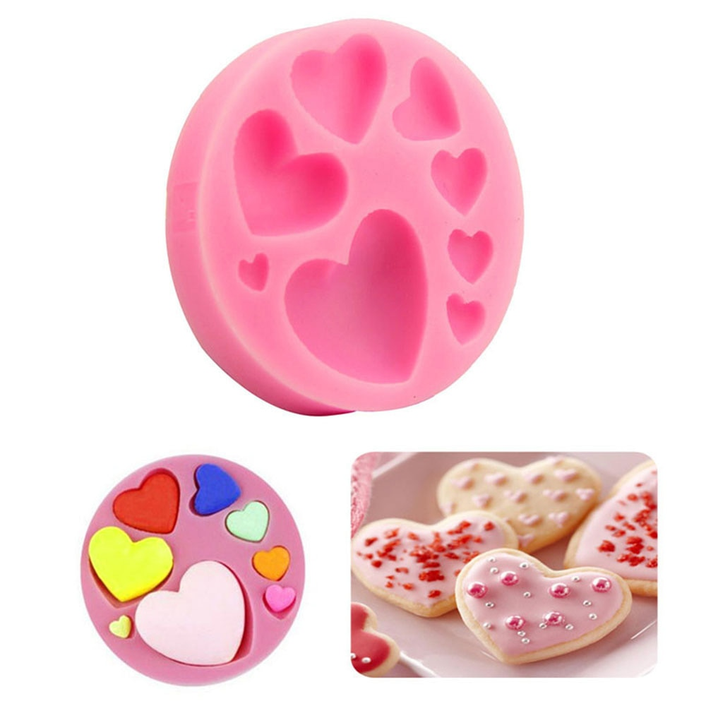 Форма «сделай сам» для выпечки торта, силиконовая форма для мыла с узором в виде сердца, ручная работа, изготовление мыла в ванной комнате, н...