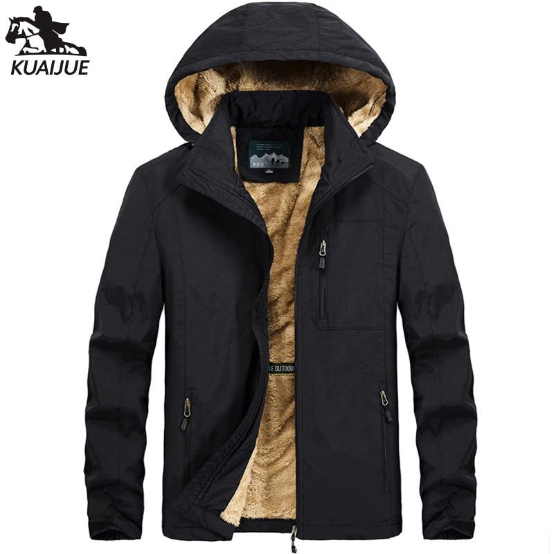 Зимняя парка для мужчин L-5XL 6LXL куртка мужская с плюшевой подкладкой с капюшоном, одежда для мальчиков, ветровки Теплые куртки мужские повсед...