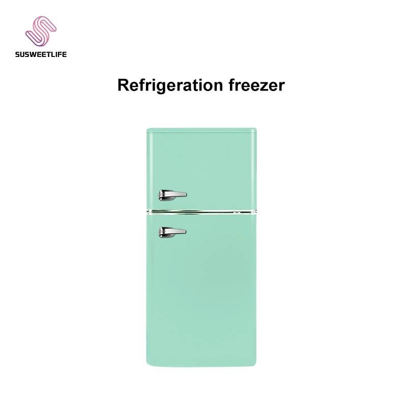 Фото - 142L Refrigerator Home Small Double Door Refrigerator Refrigerator Level 1 Energy Efficient Dorms Silent Retro Refrigerator refrigerator biryusa m50