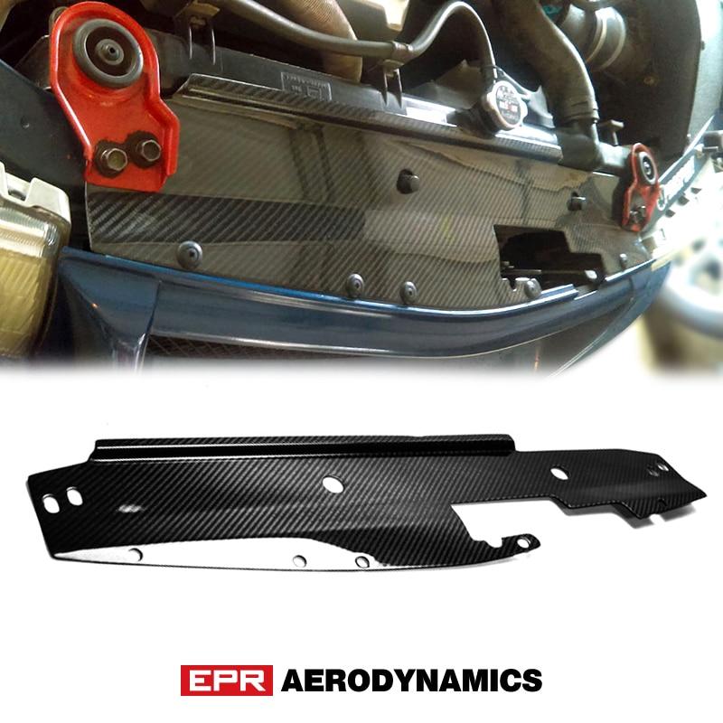لوحة تبريد من ألياف الكربون لسيارة Mitsubishi Evolution EVO 5 6 ، غطاء محرك من الألياف اللامعة ، طقم هيكل السيارة ، السباق