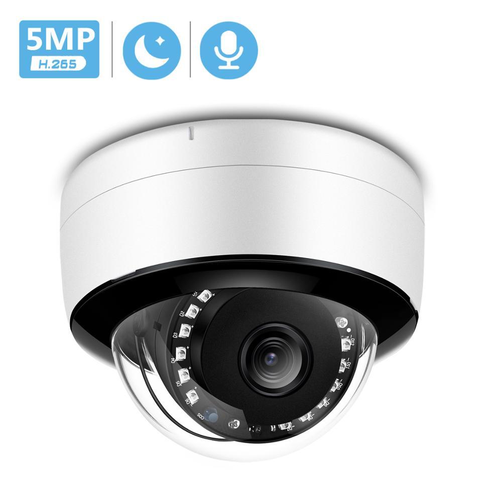 5MP قبة IP كاميرا داخلي Ai الإنسان تنبيه 3MP 48V POE الأمن كاميرا CCTV IR ليلة VIsion الصوت ONVIF P2P 1080P HD كاميرا سلكية