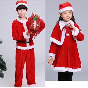 Family Matching New Year Clothes Boys and Girls Christmas Outfits Kids Santa Claus Costume Set