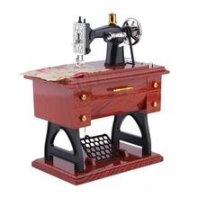 1Pc Mini Vintage Lockwork Sewing Machine Music Box Kid Toy Treadle Sartorius Toys Retro Birthday Gift Home Decor Worldwide Store