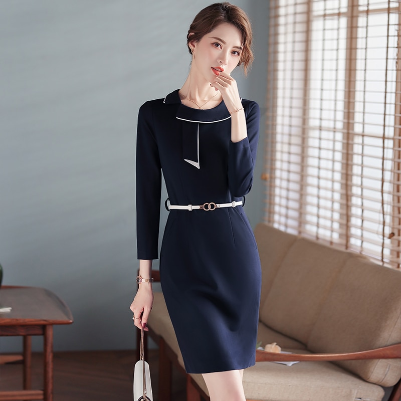 High-End Professional Dress Fashionable Commuter Formal Wear Elegant Goddess Fan Sales Department Je
