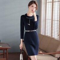 High-End Professional Dress Fashionable Commuter Formal Wear Elegant Goddess Fan Sales Department Jewelry Shop Beautician
