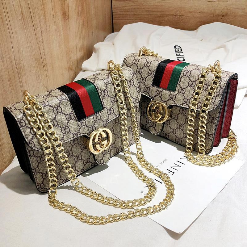 2019 new chain female bag European and American fashion wild ladies small bag portable casual bag shoulder bag messenger