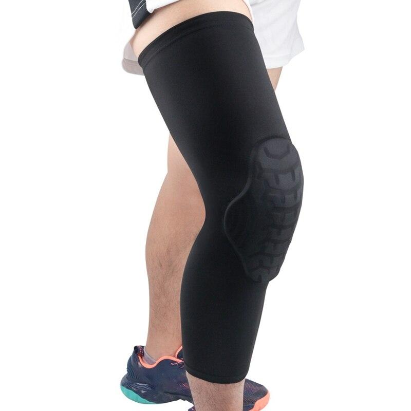Rodillera larga manga Anti-bump transpirable térmico pierna soporte al aire libre gimnasio baloncesto ropa deportiva Accessorie